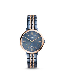 Jacqueline Three Hand Date Two Tone Stainless Steel Watch by Fossil