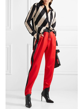 Striped Cotton And Silk Blend Gauze Shirt by Marques' Almeida