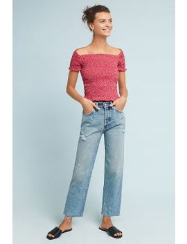 Boyish The Tommy High Rise Straight Cropped Jeans by Boyish