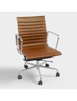 Cognac Faux Leather Hensley Office Chair by World Market