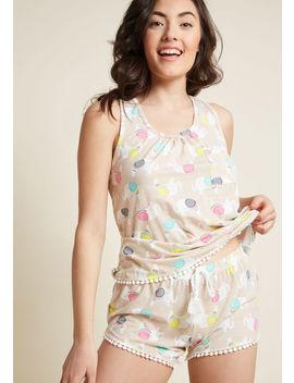 Snoozing Sensation Pajamas In Beige Snoozing Sensation Pajamas In Beige by Modcloth