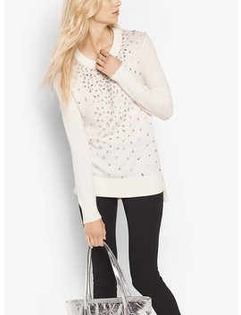 Embellished Wool Blend Sweater by Michael Michael Kors