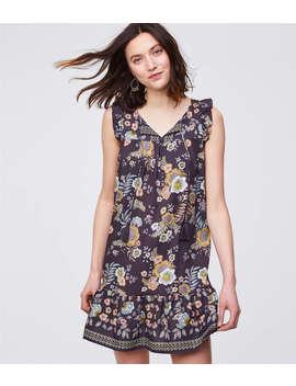 Floral Tassel Flounce Dress by Loft