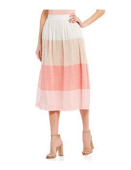Corey Stripe Midi Skirt by Cremieux