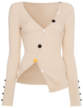 Asymmetric Cropped Cardigan by Jacquemus