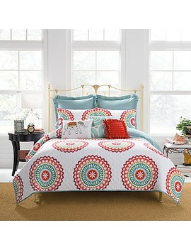 Anthology™ Bungalow Reversible Quilt In Coral/White by Bed Bath And Beyond
