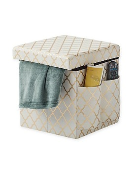 Sit & Store Folding Storage Ottoman by Bed Bath And Beyond