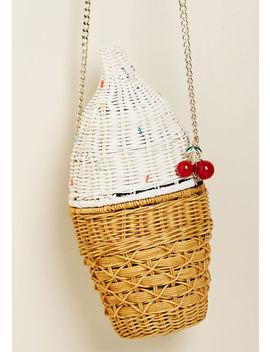Soft Serves Its Purpose Ice Cream Crossbody Bag Soft Serves Its Purpose Ice Cream Crossbody Bag by Betsey Johnson