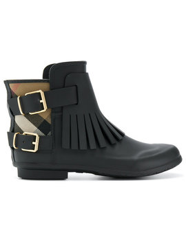 Fringed Rain Boots by Burberry