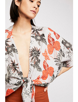 Canyon Rose Print Kimono by Free People