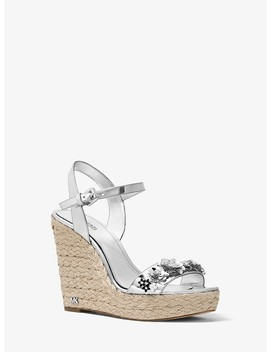 Jill Floral Sequined Metallic Wedge by Michael Michael Kors