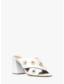 Brianna Grommeted Leather Mule by Michael Kors Collection