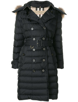 Fur Trim Puffer Coat by Burberry Saint Laurent Burberry Saint Laurent Burberry Saint Laurent Burberry