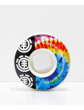 Element 52mm 95a Tie Dye Skateboard Wheels by Element