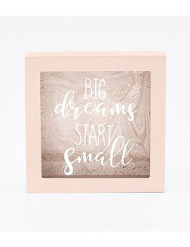 Pale Pink Big Dreams Money Box by New Look