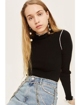 Lettuce Trim Cropped Sweater by Topshop