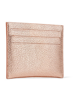 Pandora Metallic Textured Leather Cardholder by Givenchy