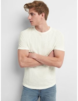 Short Sleeve Raglan Crewneck T Shirt by Gap