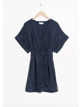 Belted Wrap Mini Dress by & Other Stories