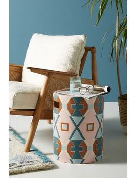 Atlas Ceramic Indoor/Outdoor Side Table by Tracey Boyd