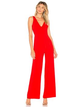 Carmela Deep V Wide Leg Backless Jumpsuit by By The Way.