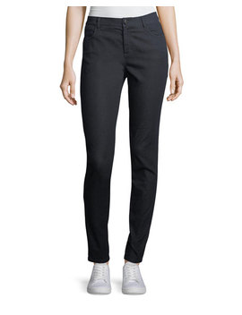 Mercer Primo Stretch Denim Mid Rise Skinny Jeans by Lafayette 148 New York