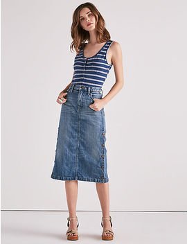 Snap Up Skirt by Lucky Brand