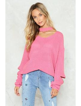 Our Zips Are Sealed Choker Sweater by Nasty Gal