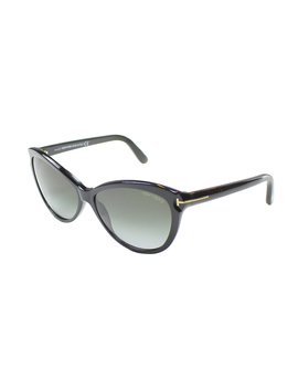 Tf 325 01p Telma Black Cat Eye Sunglasses by Tom Ford
