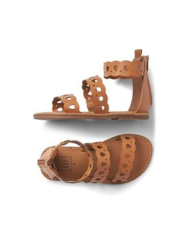 Strappy Scalloped Sandals by Gap