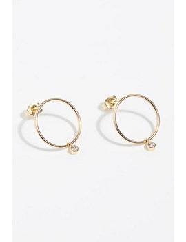 14k Diamond Front Hoops by Free People
