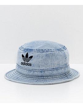 Adidas Originals Light Blue Washed Denim Bucket Hat by Adidas