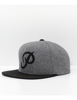 Primitive Classic P Black & Grey Wool Snapback Hat by Primitive Skateboarding