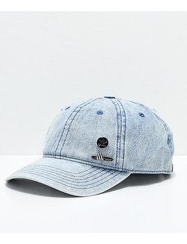 Adidas Pin Pack Denim Strapback Hat by Adidas