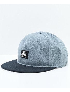 Nike Sb Warmth True Grey & Black Strapback Hat by Nike Sb