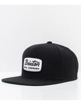 Brixton Jolt Black Snapback Hat by Brixton