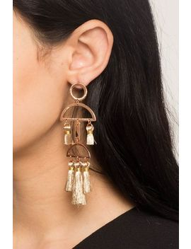 Organic Mobile Tassel Drop Earring by A'gaci