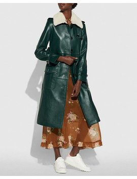 Leather Trench Coat by Coach