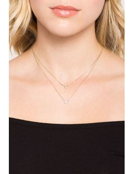 Double Dot Carded Pendant Layer Necklace by A'gaci