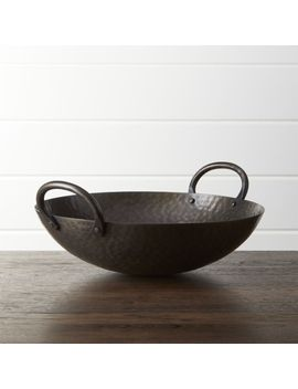 Feast Hammered Iron Serving Bowl by Crate&Barrel