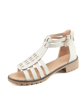 Karinluna 2018 New Style Large Size 35 43 Rome Gladiator Summer Sandals Woman Shoes Fashion Zip Up Casual Shoes Women by Ali Express