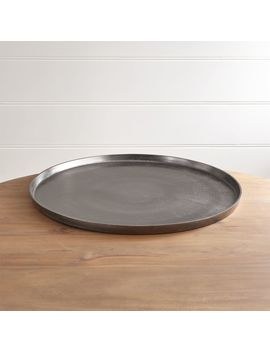 Element Metal Antiqued Pewter Tray by Crate&Barrel