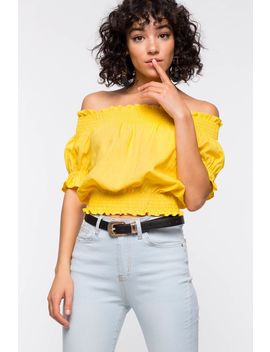 Kelly Tie Off Shoulder Top by A'gaci