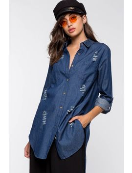 Kim Distressed Tunic Shirt by A'gaci