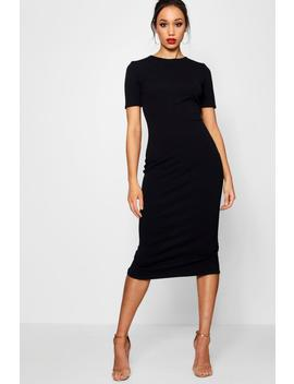 Tall Annie Short Sleeve Tailored Midi Dress by Boohoo