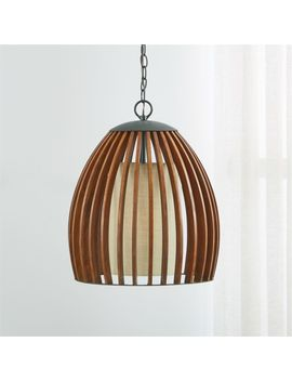 Kennedy Wood Pendant Light by Crate&Barrel