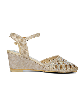Karinluna Large Size 33 45 Cut Outs Bling Upper Women Shoes Woman Elegant Comfotable Wedge Heels Summer Party Sandals Woman by Ali Express