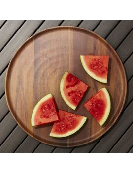 Wood Grain Melamine Platter by Crate&Barrel