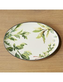 Herb Oval Platter by Crate&Barrel