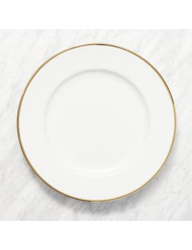 Maison Gold Rim Round Platter by Crate&Barrel